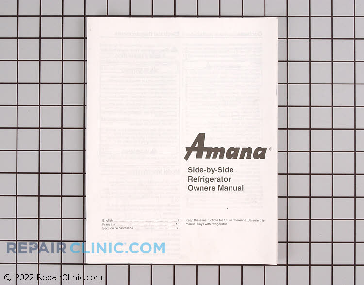 Owner's Manual 10994606        Alternate Product View