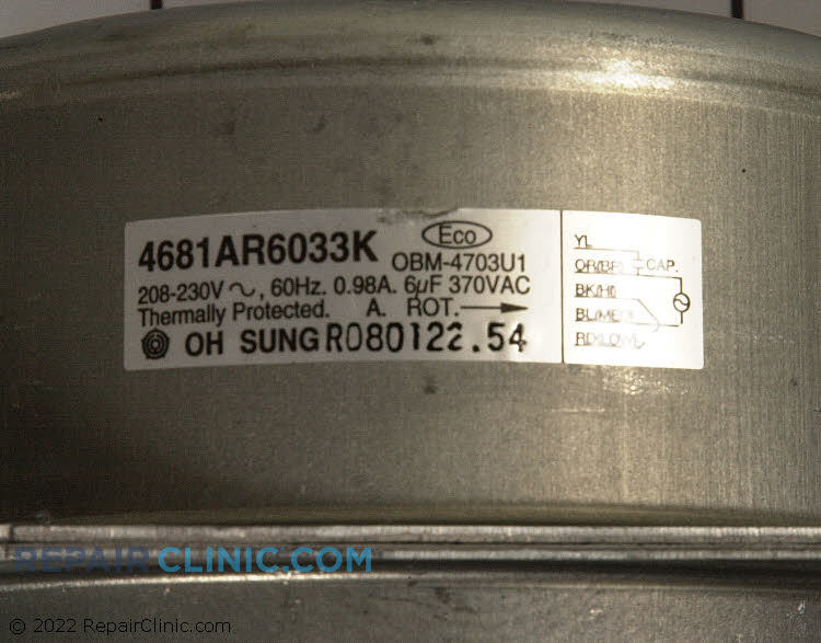 Blower Motor 4681AR6033C Alternate Product View