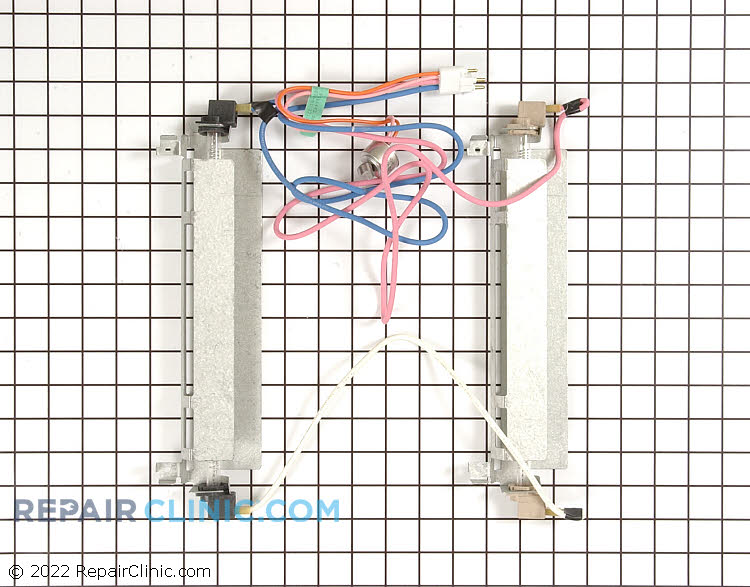 Refrigerator defrost heater kit with defrost thermostat for side by side models. If the freezer is cold, but the refrigerator section is warmer than normal the evaporator coils may be frosted over. This heater comes on periodically to defrost the coils.