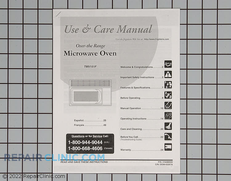 Owner's Manual 316488500       Alternate Product View