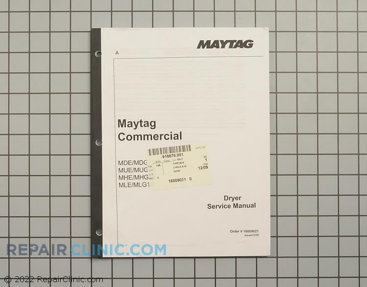 Repair Manual 16009021 Alternate Product View