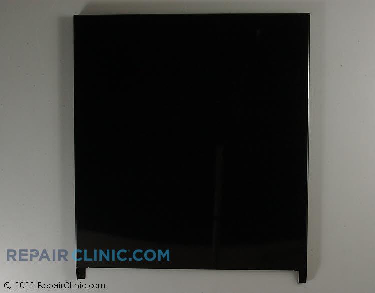 Front door panel, black