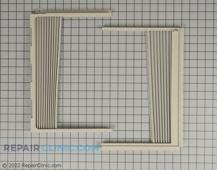 Window curtains frame with curtain and hardware, installation kit