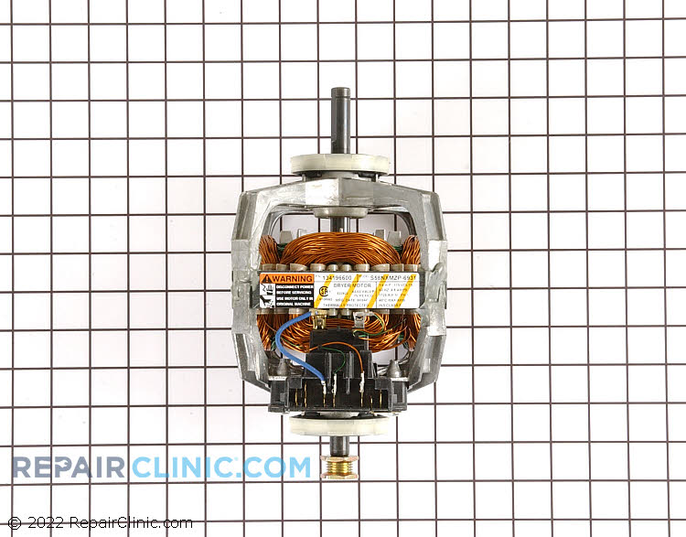 Drive Motor for Dryer Drum and Blower With Pulley