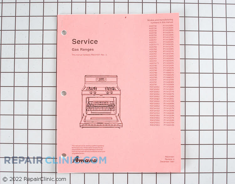 Manuals, Care Guides & Literature RB231001 Alternate Product View