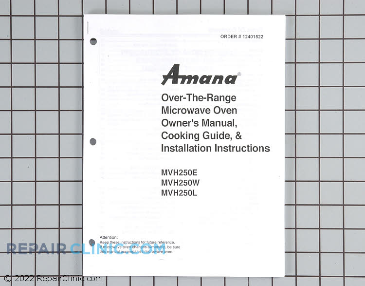 Owner's Manual 12401522 Alternate Product View