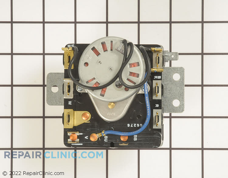 Dryer timer. The dryer timer will not advance if the dryer is not heating properly.