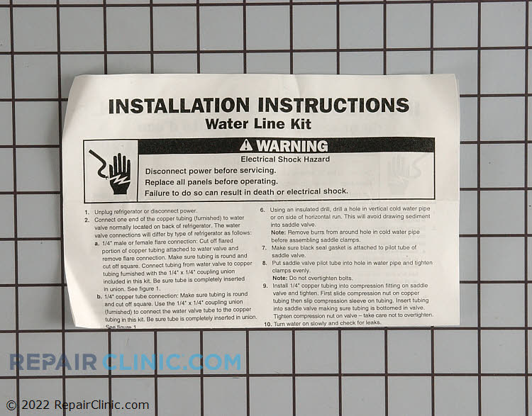 Water Line Installation Kit 8003RP Alternate Product View
