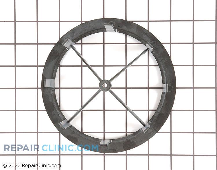 Open drum end filter frame