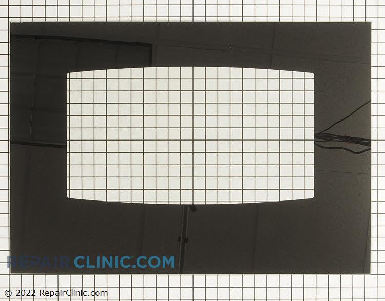 Outer oven door glass, black
