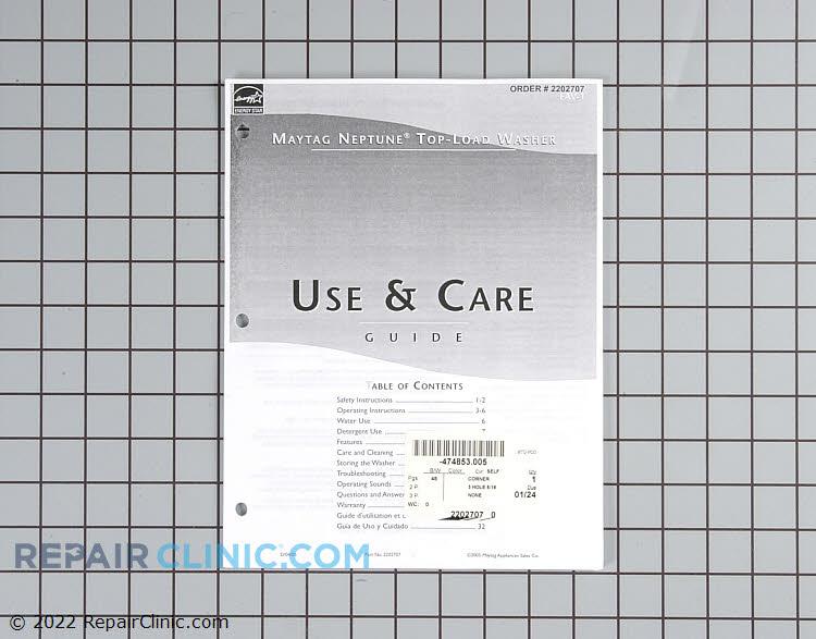 Repair Manual 2202707 Alternate Product View
