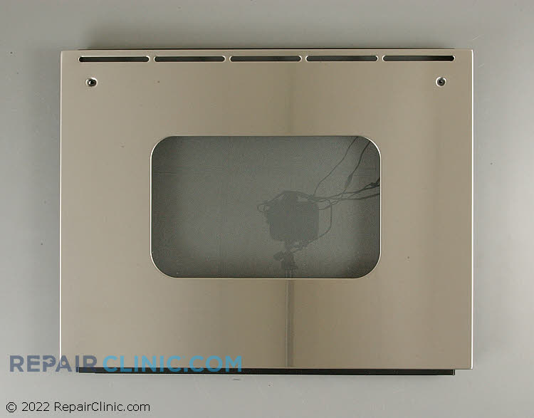 """Oven outer door assembly, 27"""", stainless steel"""