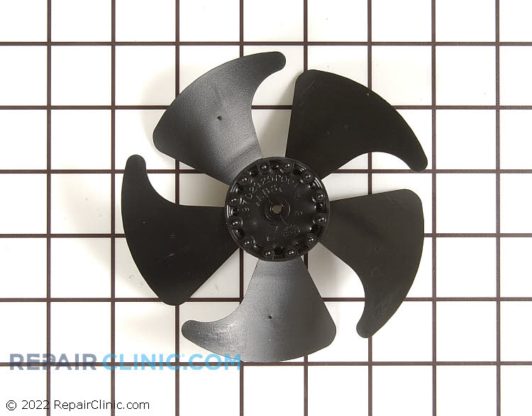 Evaporator fan blade. This blade is located in the freezer compartment of the refrigerator.