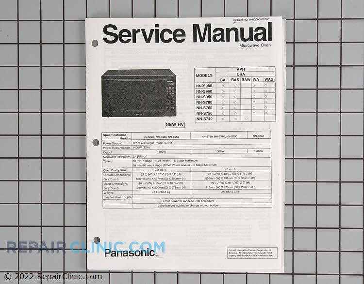 Repair Manual SMNNS950WA Alternate Product View