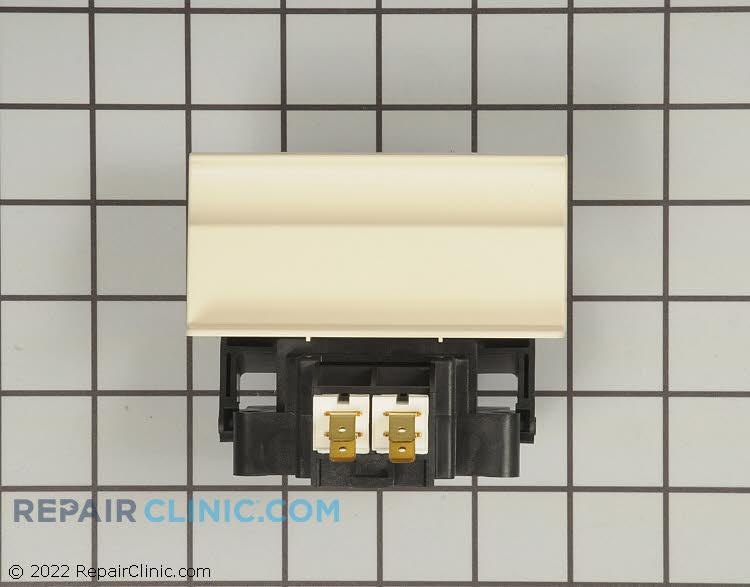 Dishwasher door latch and handle, bisque