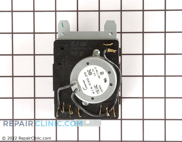 "Dryer timer assembly <br><br>*On electric models, when the timer being replaced is minus the ""D"" terminal, remove the ""D"" terminal from original timer and screw it to the opening on the new timer."