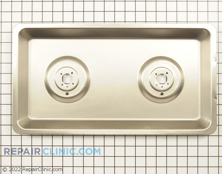 Burner drip pan, stainless steel