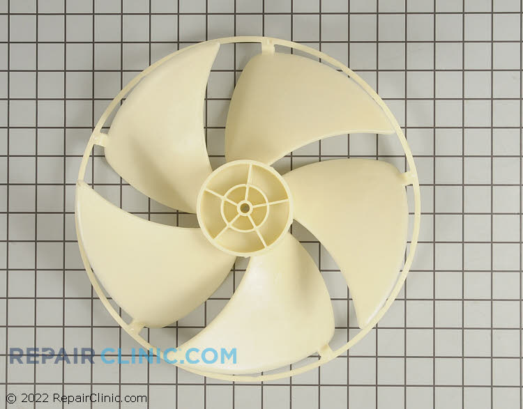 Condenser fan blade with slinnger ring