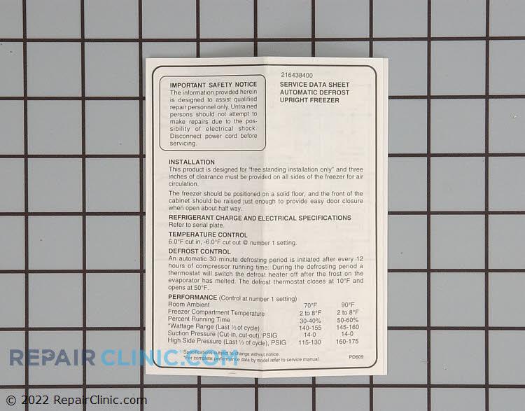 Tech sheet-wiring d 216438400       Alternate Product View