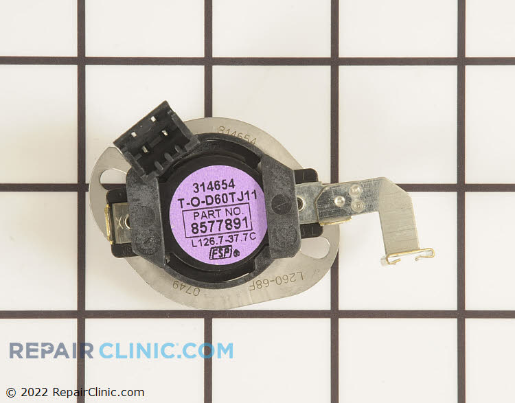 High Limit Thermostat WP8577891 Alternate Product View