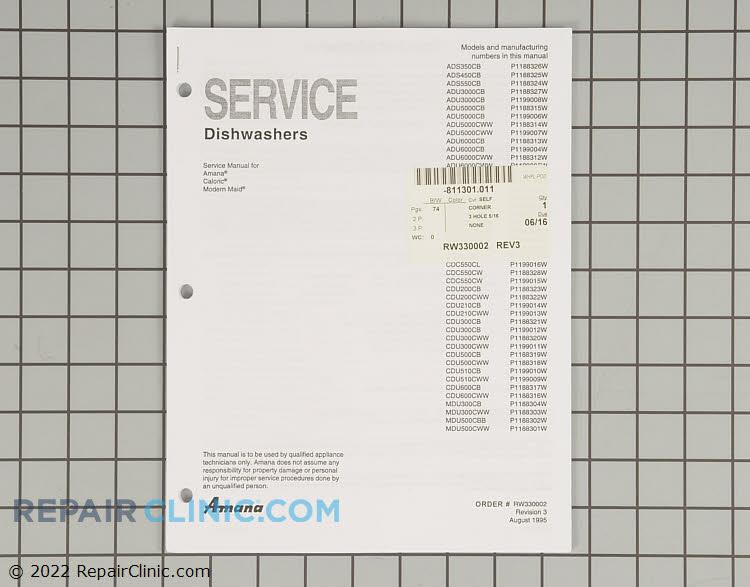 Repair Manual RW330002 Alternate Product View