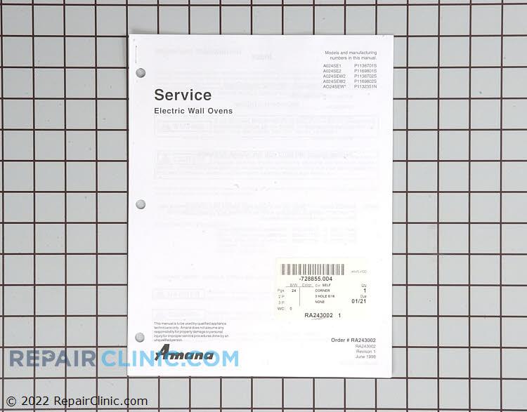 Repair Manual RA243002 Alternate Product View