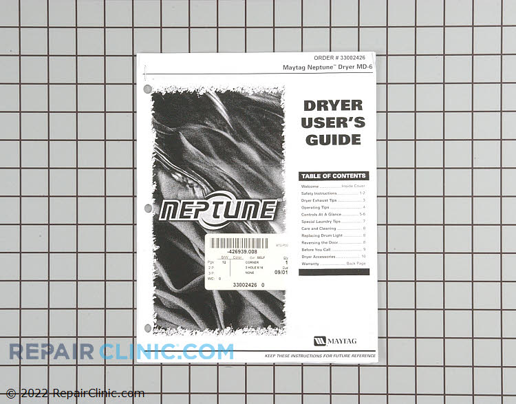 Owner's Manual 33002426        Alternate Product View