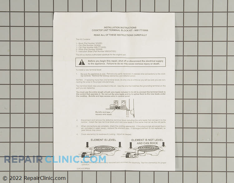 Element Receptacle and Wire Kit WB17T10006 Alternate Product View