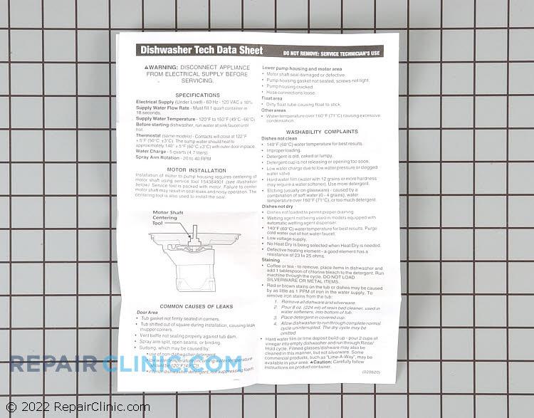 Tech Sheet 154435301       Alternate Product View
