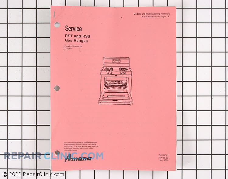 Repair Manual RC231002        Alternate Product View