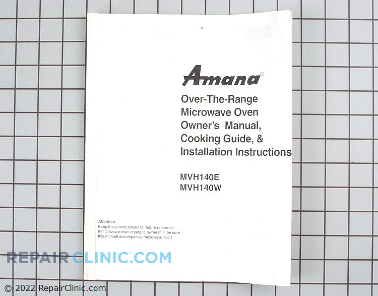 Owner's Manual 12401507 Alternate Product View
