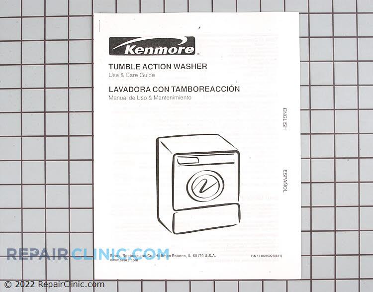 Washing Machine Owner S Manual 131801600 Fast Shipping