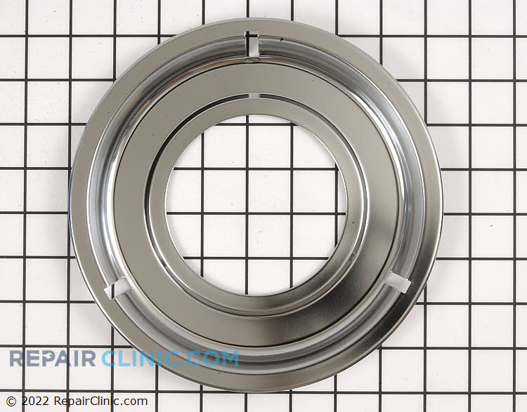 Chrome drip pan for gas range/cooktop