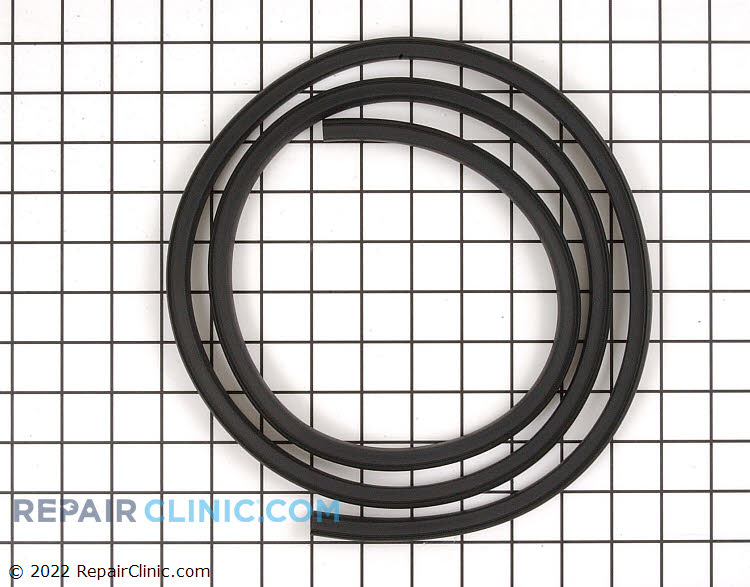 Dishwasher door gasket. This gasket creates a seal around the dishwasher to prevent water from leaking out. If the door seal is torn, the dishwasher will leak water. Measures 66.5 in length