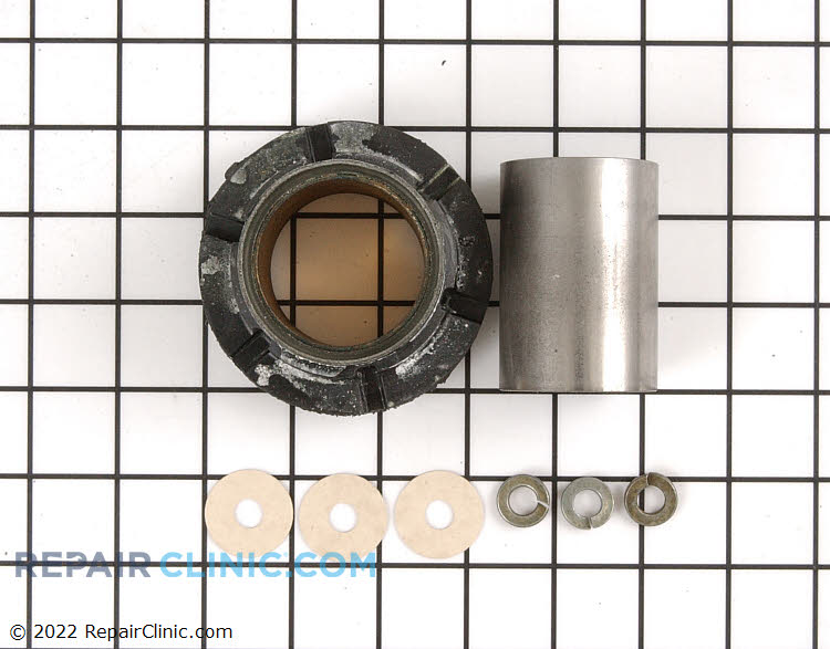 Washing machine tub bearing repair kit. The tub bearing is mounted in the middle of the outer tub of the washing machine. The tub bearing helps to keep the inner tub spinning smoothly. If the tub bearing is defective, it may lock up and prevent the washer from spinning.