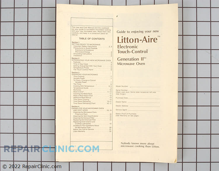 Manuals, Care Guides & Literature 0510000027 Alternate Product View