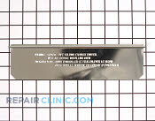 Vent Damper - Part # 1456245 Mfg Part # WPW10197773
