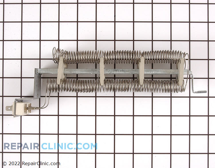 Heating element assembly with replacement high limit thermostat, L248-80 (240 Volt, 4750 Watt). Dryer Heating element. If the dryer does not heat check for a blown thermal fuse or thermal cut out. Heating elements will often have a break in the coil element if defective.
