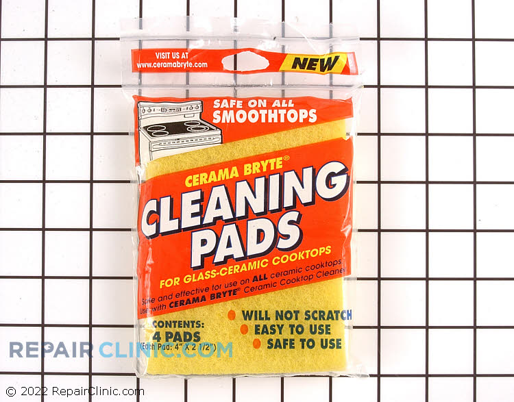 Cleaning pads for glass-ceramic cooktops, set of 4