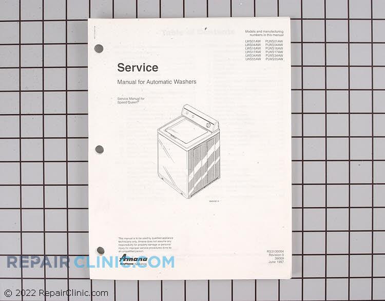 Repair Manual RS3100004 Alternate Product View