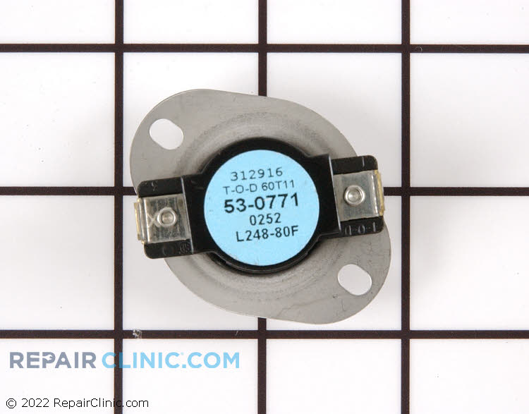 High Limit Thermostat WP53-0771 Alternate Product View
