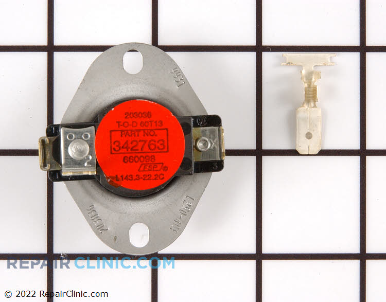 High-limit dryer thermostat, L290-40, 3-wire