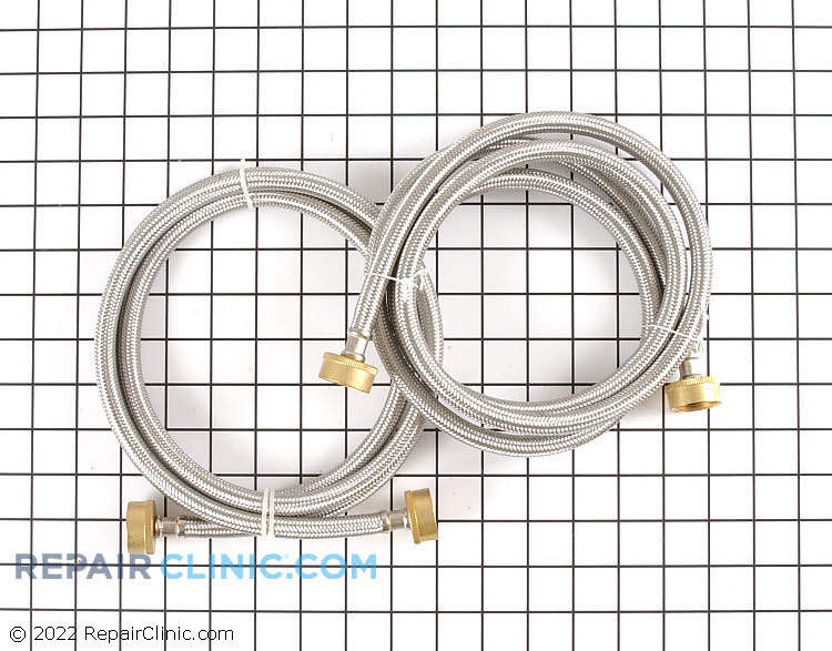 Universal washing machine water supply hose set. Includes 2 extra strong 6 foot braided stainless steel hoses with hose washers already installed. It is recommended to replace washing machine inlet hoses after 5 years of use to reduce the risk of hose failure.