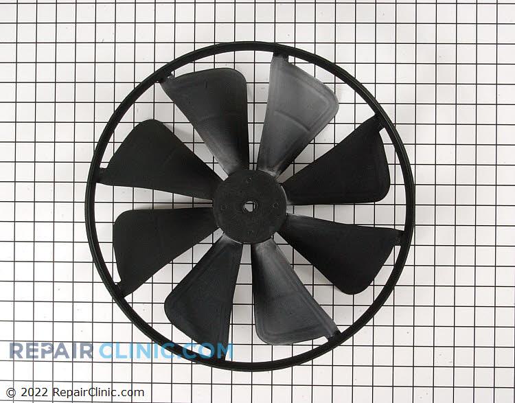 Condenser fan blade with slinger ring