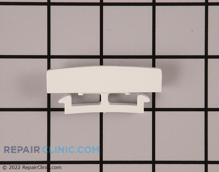 Refrigerator door shelf retainer bar endcap