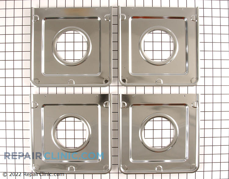 Gas range burner drip pan kit, 4 in kit