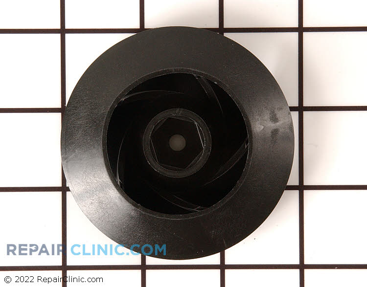 Wash impeller for dishwasher pump