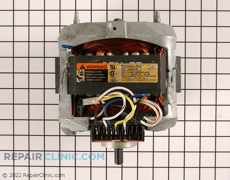 Drive Motor WP3350418 Alternate Product View