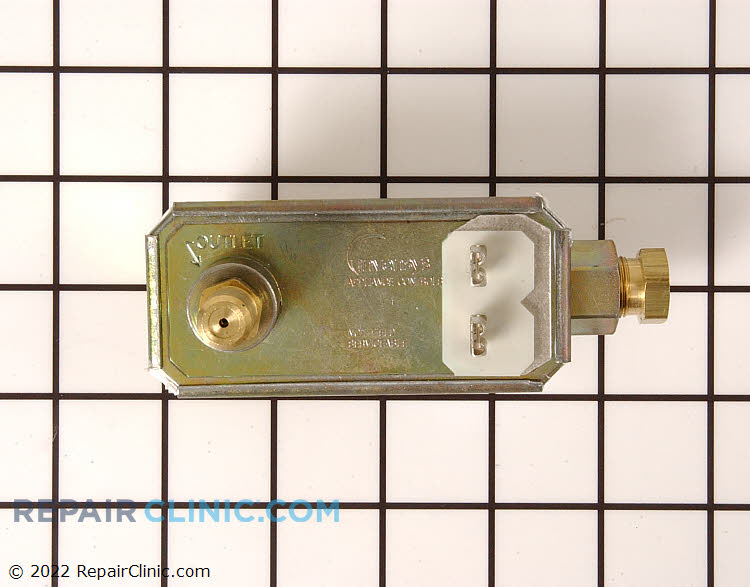 Gas oven safety valve with gas line adaptor and orifice
