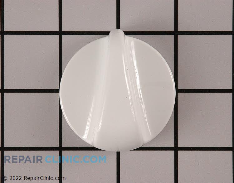 Surface burner control knob, white